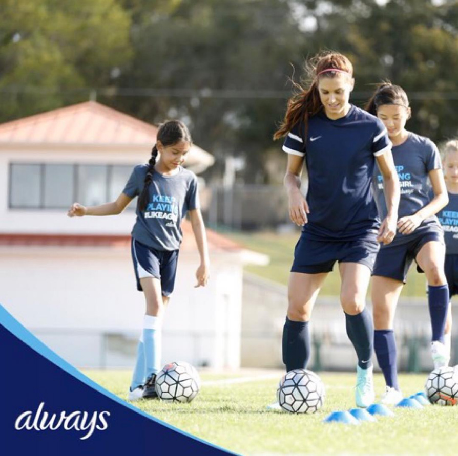 <p>She's not afraid to play #LikeAGirl.</p>