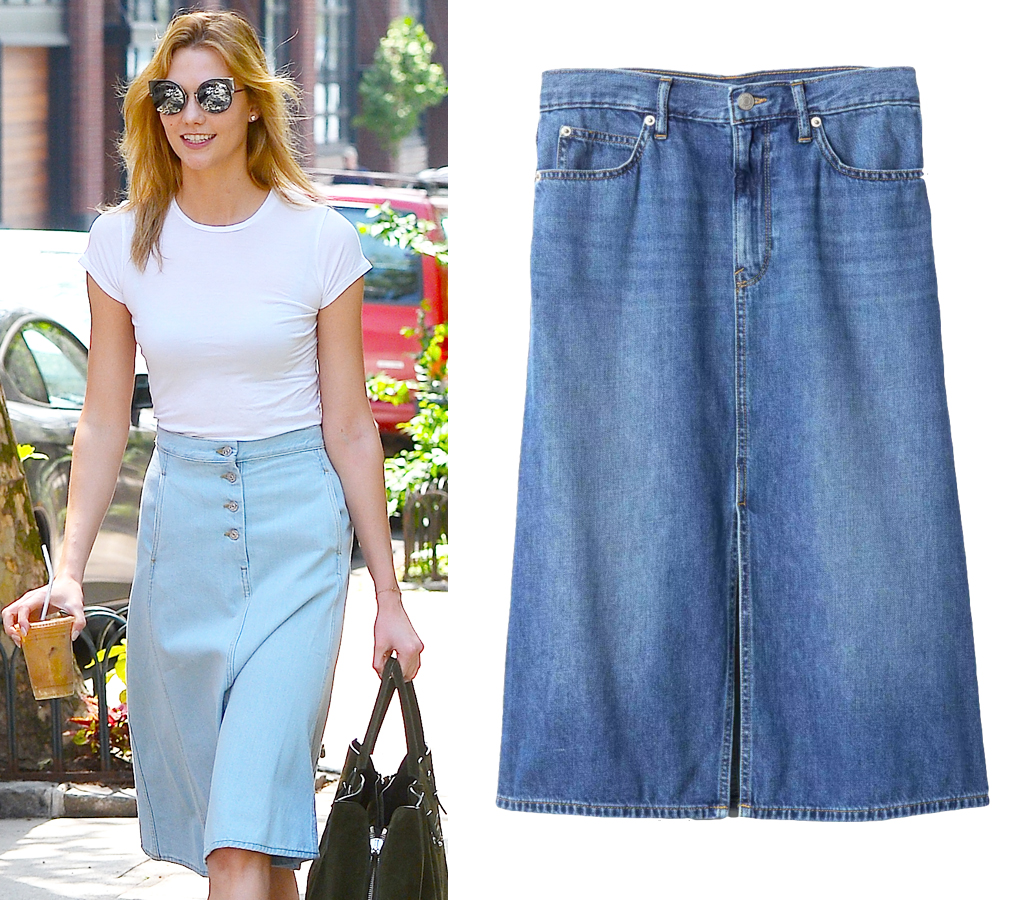 6e4cd3fb83640 How to Find The Best Denim Skirt for Your Body Type