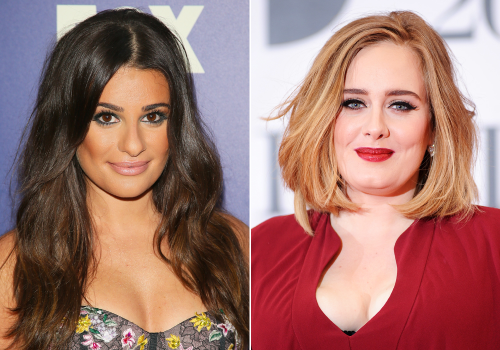 Adele and Lea Michele - Lead