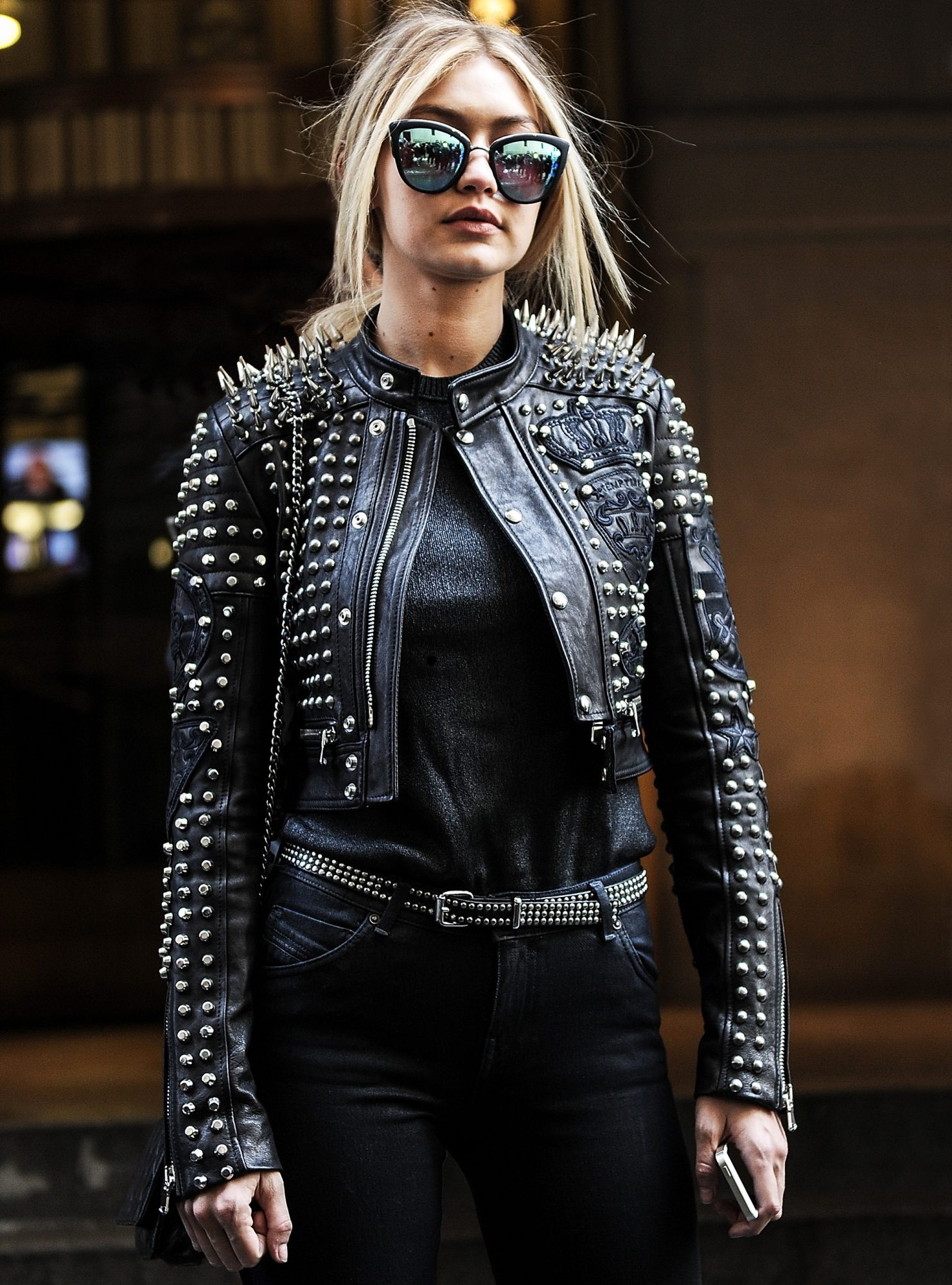 Celebrities In Leather Jackets Instyle Com