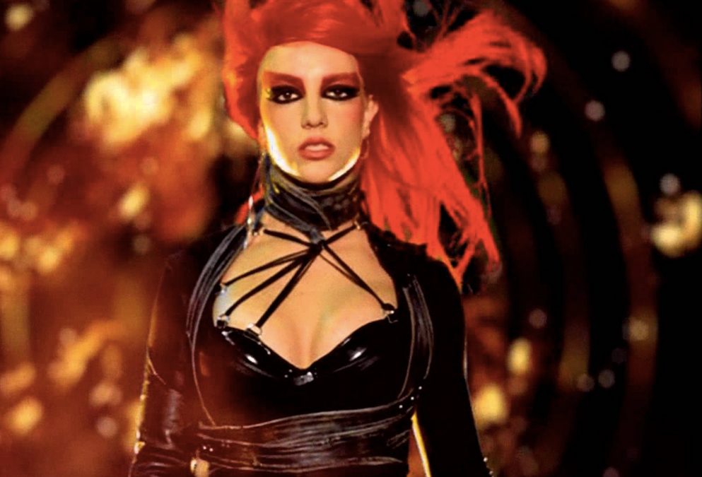 "<p>The Red Hair and Graphic Liner From ""Toxic"" </p>"