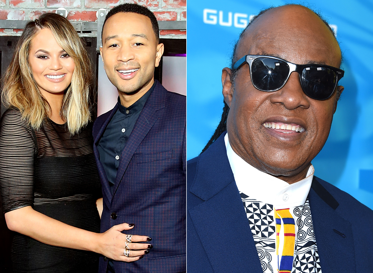 "John Legend and Chrissy Teigen's Baby Luna Meets ""Uncle Stevie"" Wonder"