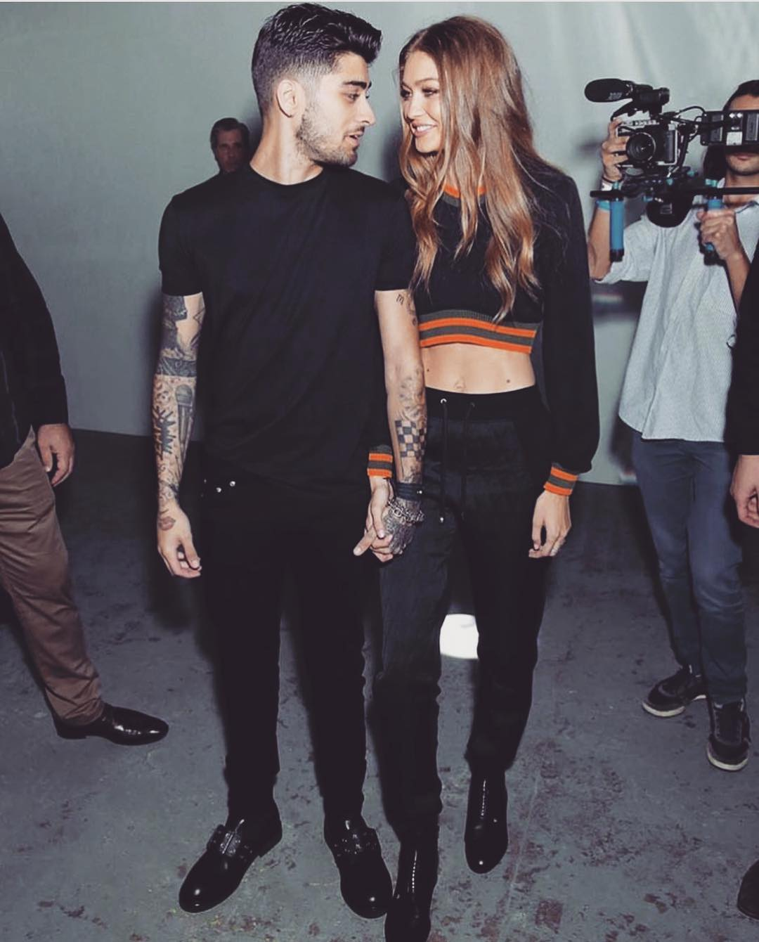 Gigi Hadid and Zayn Malik Can't Keep Their Eyes Off Each Other at London Fashion Week