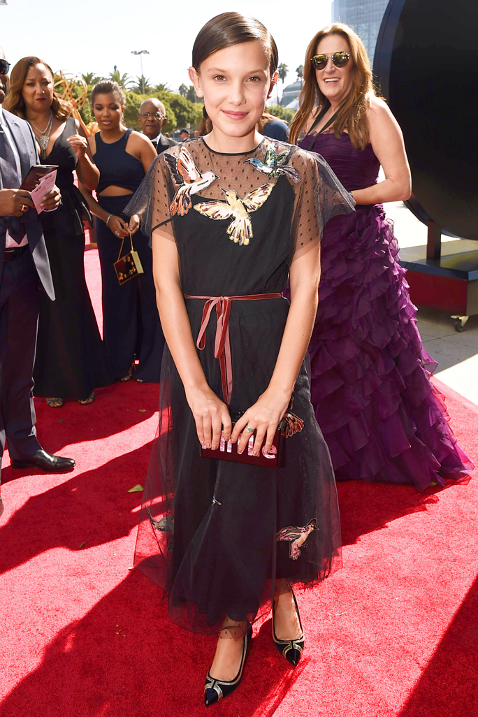 <p>Millie Bobby Brown in Valentino Red</p>