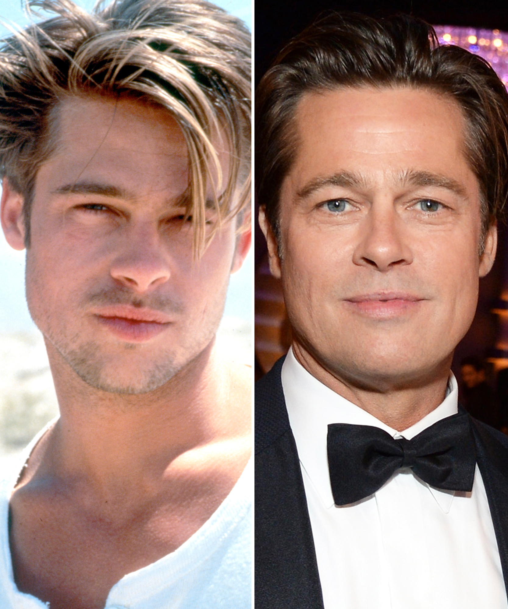 Brad Pitt S Transformation From Young Heartthrob To Dapper Dad Instyle Com