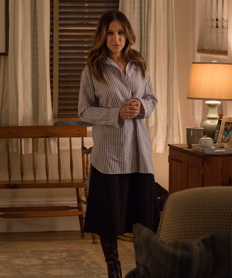 Her office outfits are both masculine and feminine at the same time