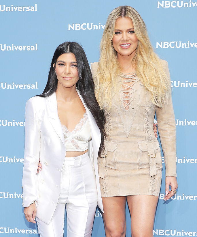 NEW YORK, NY - MAY 16:  Kourtney Kardashian and Khloe Kardashian attend the NBCUniversal 2016 Upfront at Radio City Music Hall on May 16, 2016 in New York City.  (Photo by J. Countess/Getty Images)