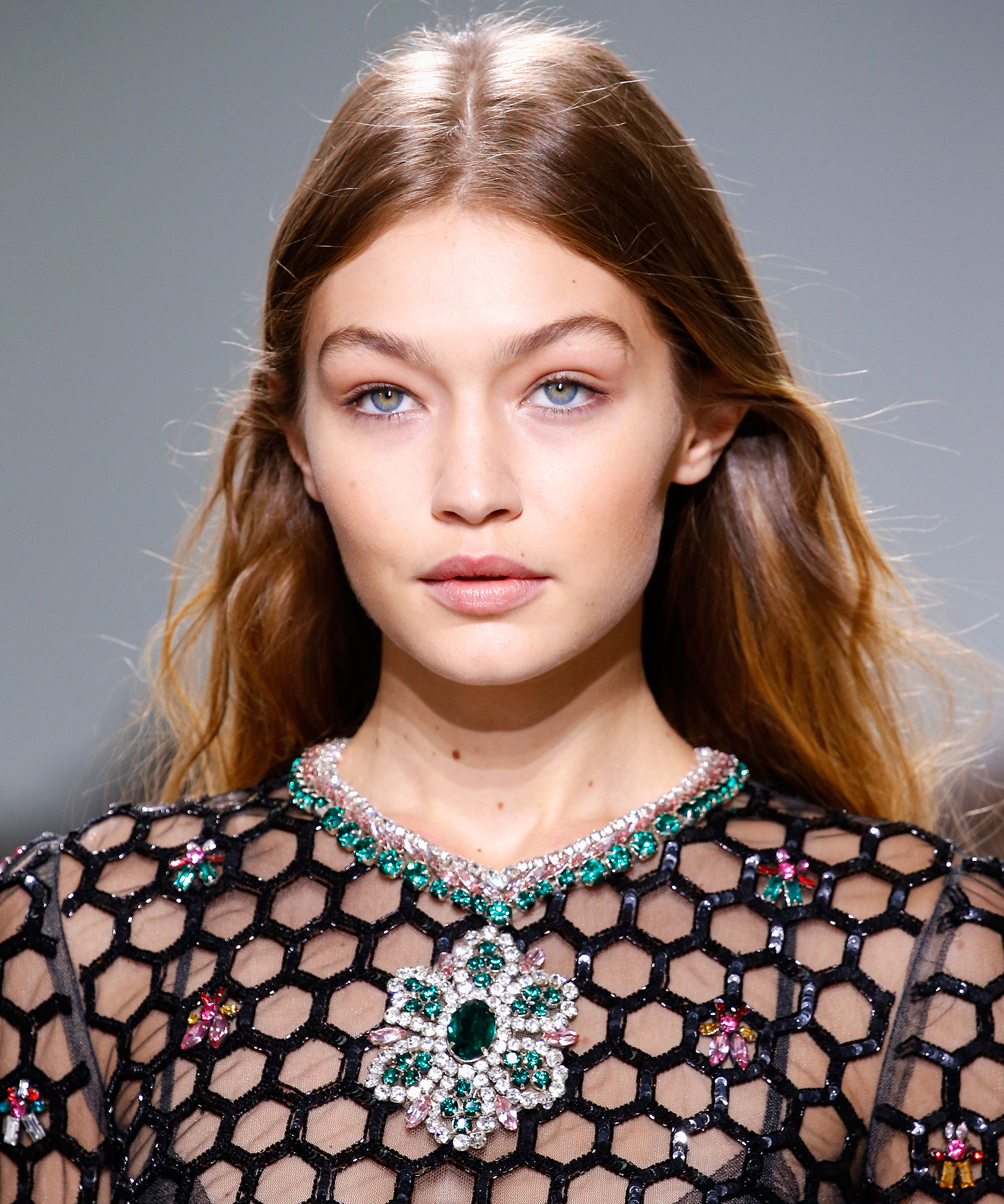 Gigi Hadid Wears Rhinestone Eye Makeup, We All Wear Rhinestone Eye Makeup