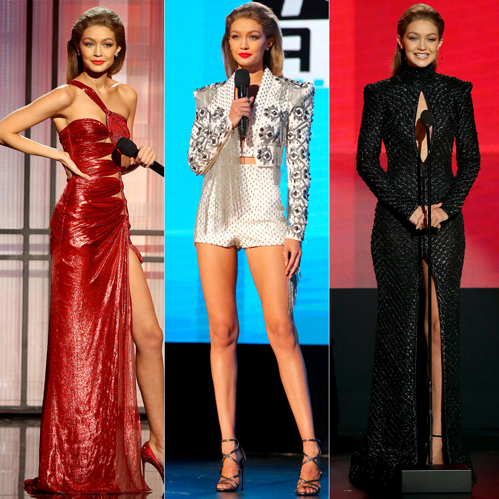 See Every Sexy Look Gigi Hadid Rocked During the 2016 AMAs