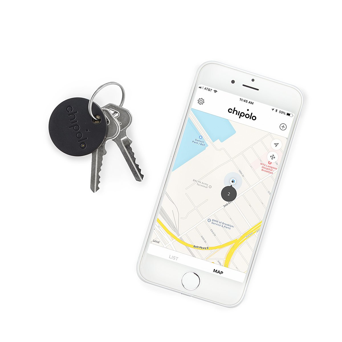 Chipolo Keyring Bluetooth Tracker