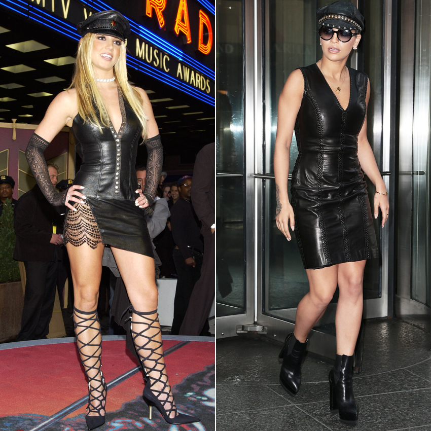 <p>THE LEATHER-ON-LEATHER LOOK</p>