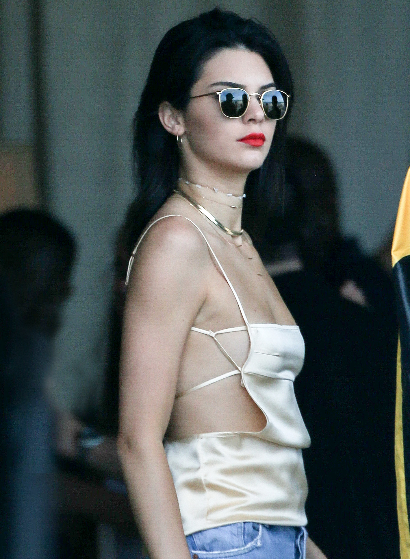 Kendall Jenner - Gold Top - 1