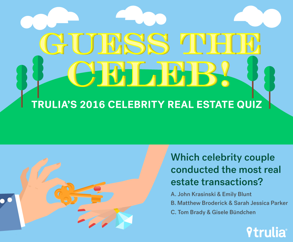 <p>Question: Which celebrity couple conducted the most real estate transactions?</p>