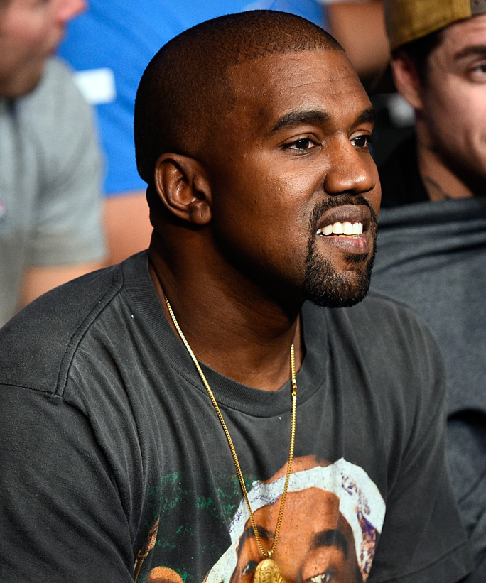 LAS VEGAS, NV - AUGUST 20: Rapper Kanye West attends the UFC 202 event at T-Mobile Arena on August 20, 2016 in Las Vegas, Nevada. (Photo by Jeff Bottari/Zuffa LLC/Zuffa LLC via Getty Images)