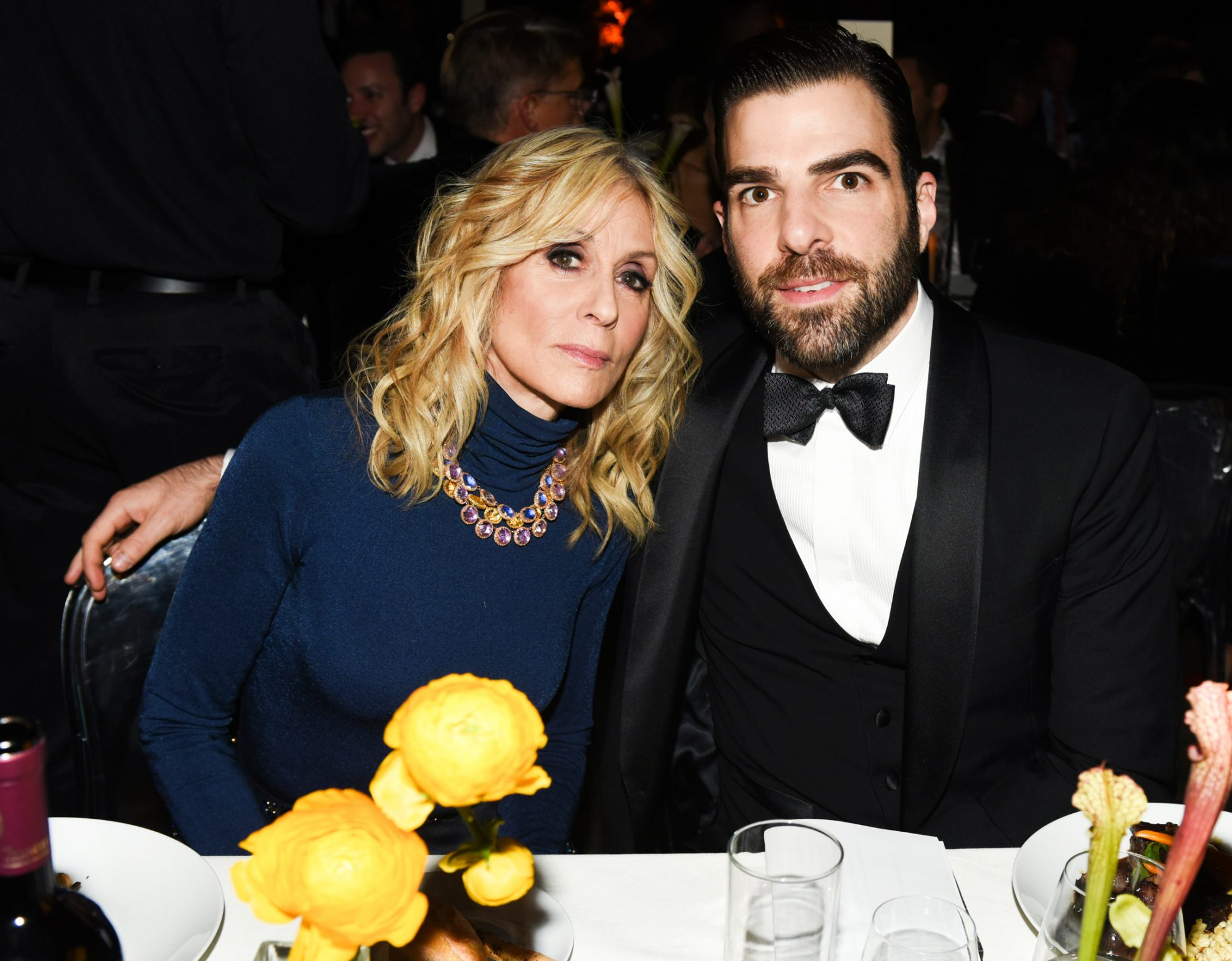 <p>Judith Light and Zachary Quinto </p>