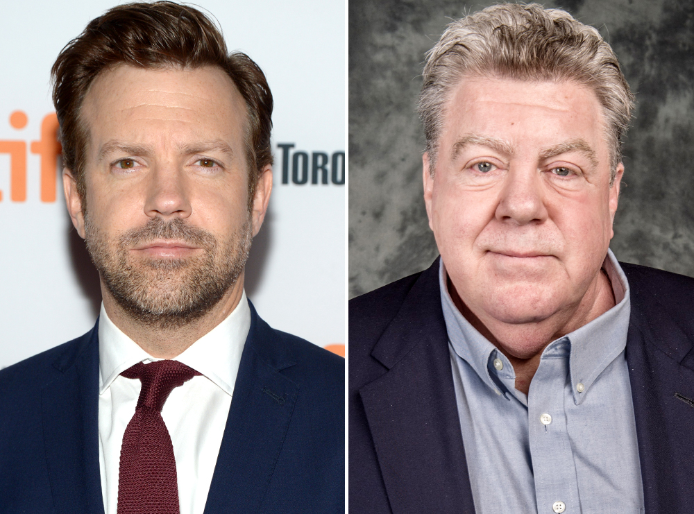<p>Jason Sudeikis and George Wendt</p>