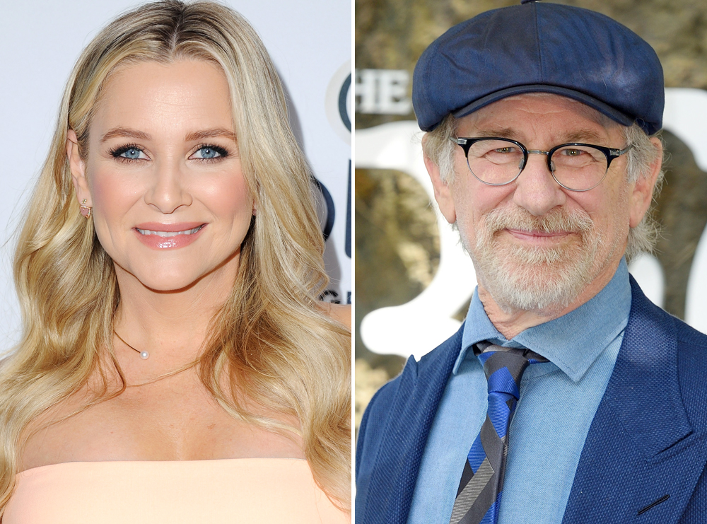 <p>Steven Spielberg and Jessica Capshaw</p>
