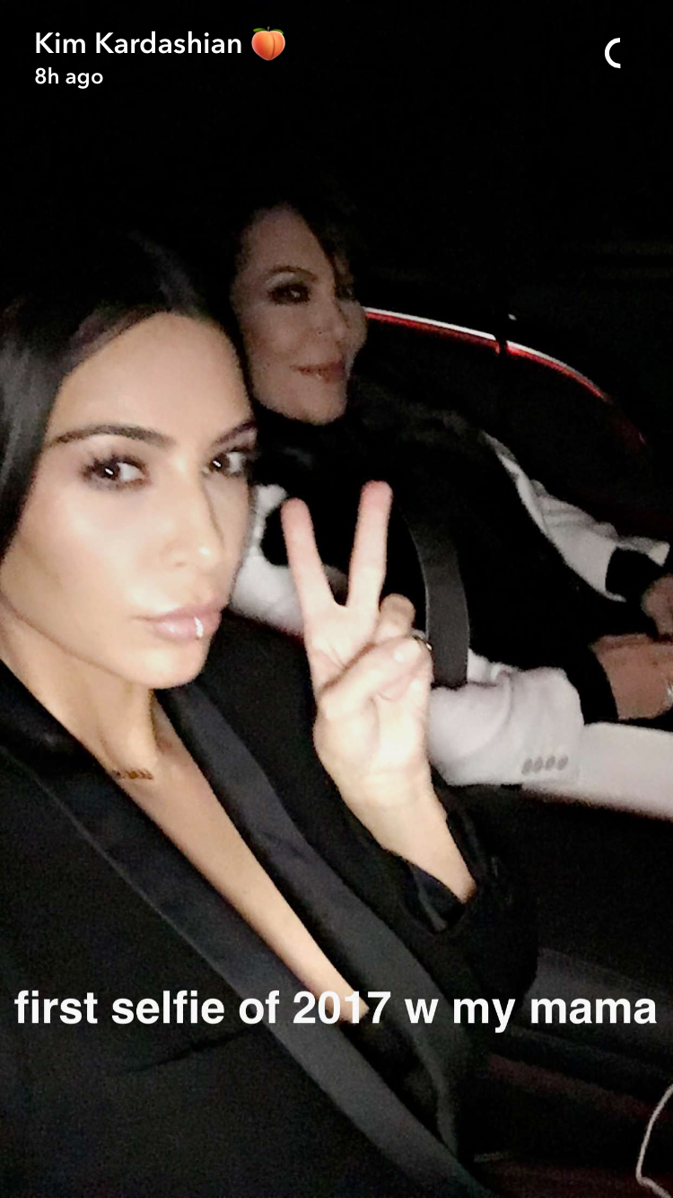 Kim Kardashian West 2017 First Selfie