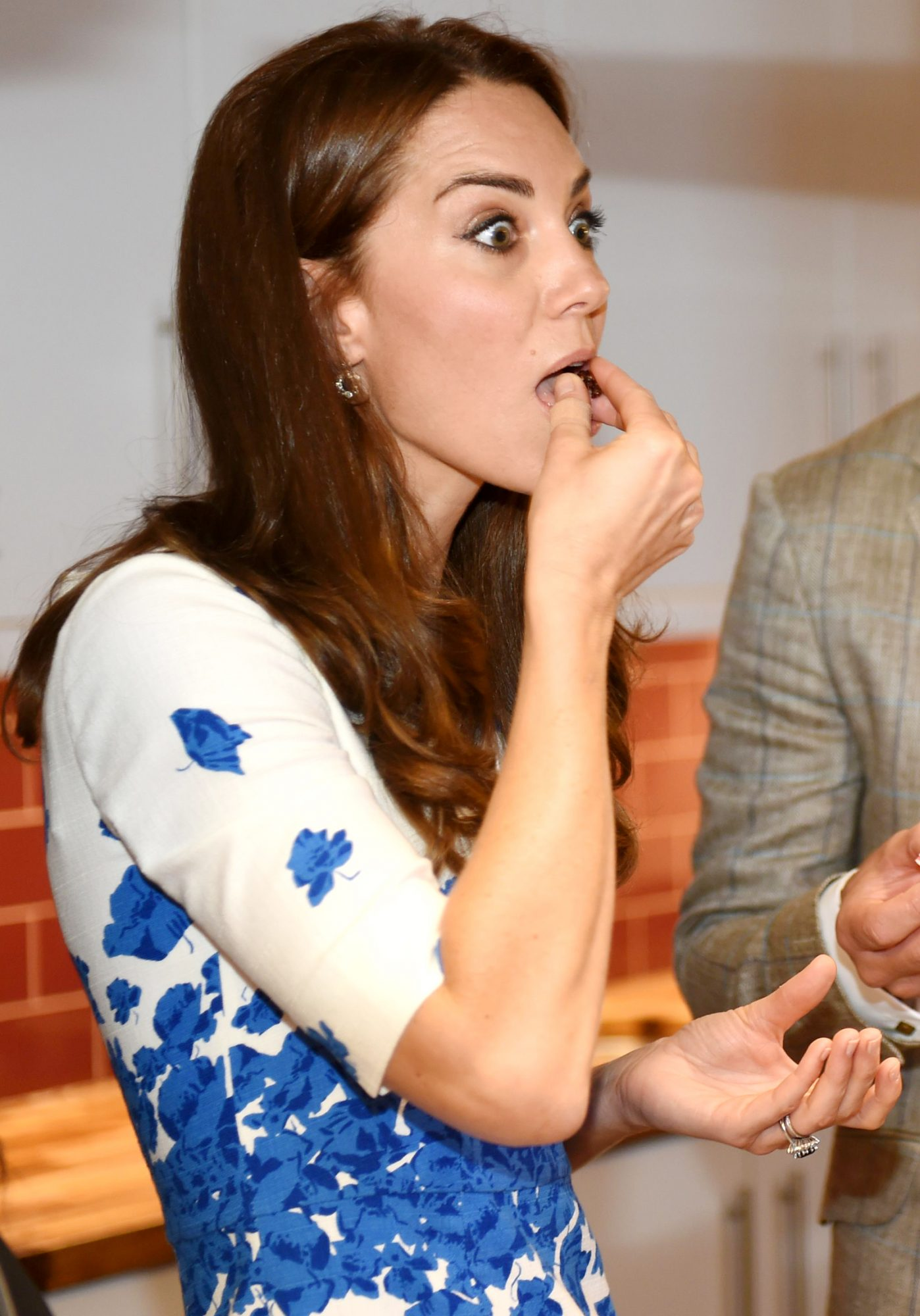 <p>It's like how you look while eating a brownie, except ... It's Kate Middleton. </p>