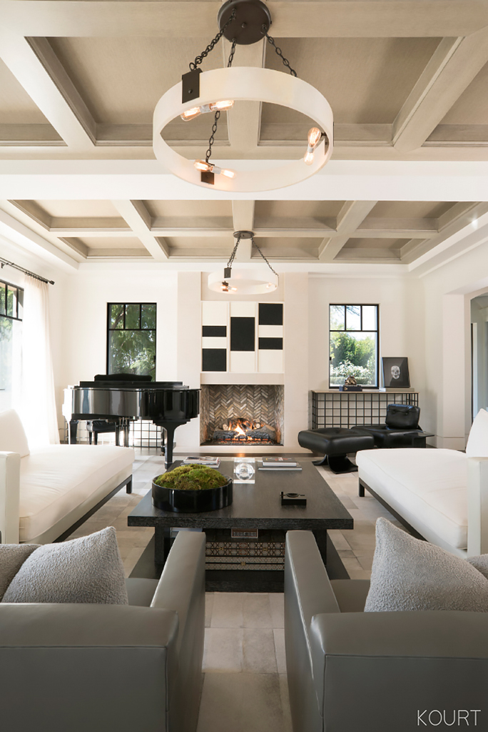 Peek Inside Kourtney Kardashian's Sleek Living Room—and Copy the Look