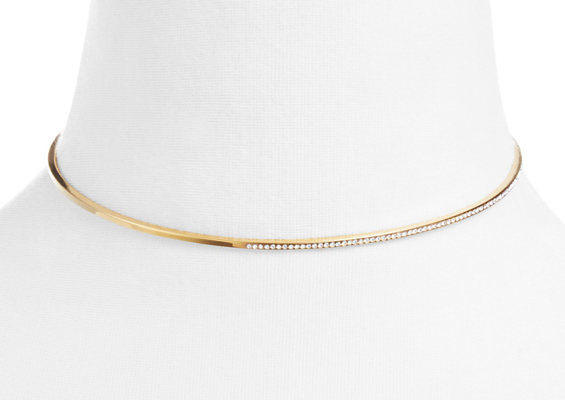 Aria Side Crystal Collar Necklace