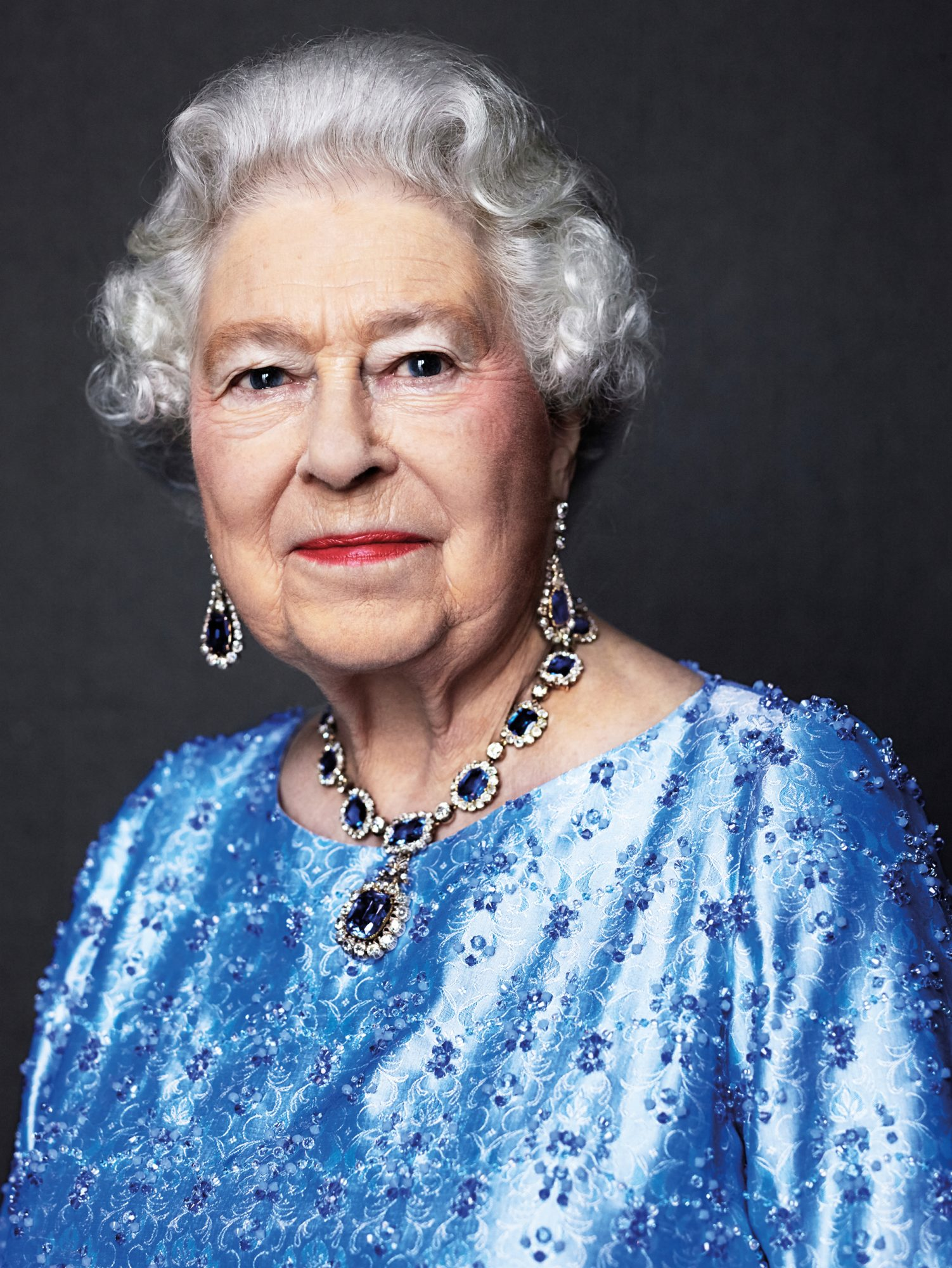Queen Elizabeth Celebrates Her Record-Breaking Reign with a Sparkling Sapphire Portrait