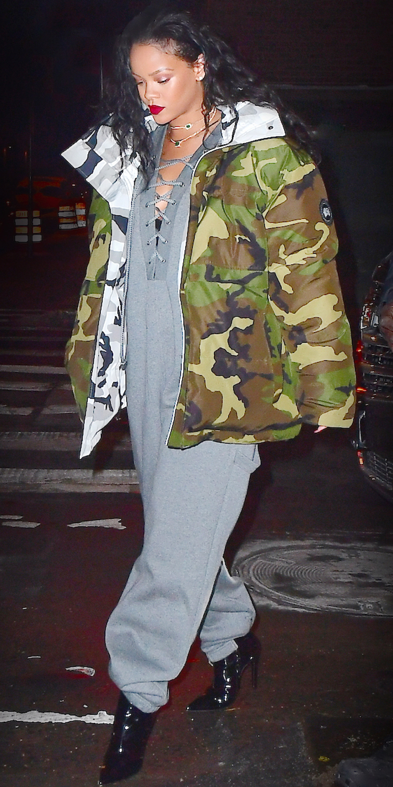 <p>Yes, that is a fleece jumpsuit, and yes, we are into it.</p>
