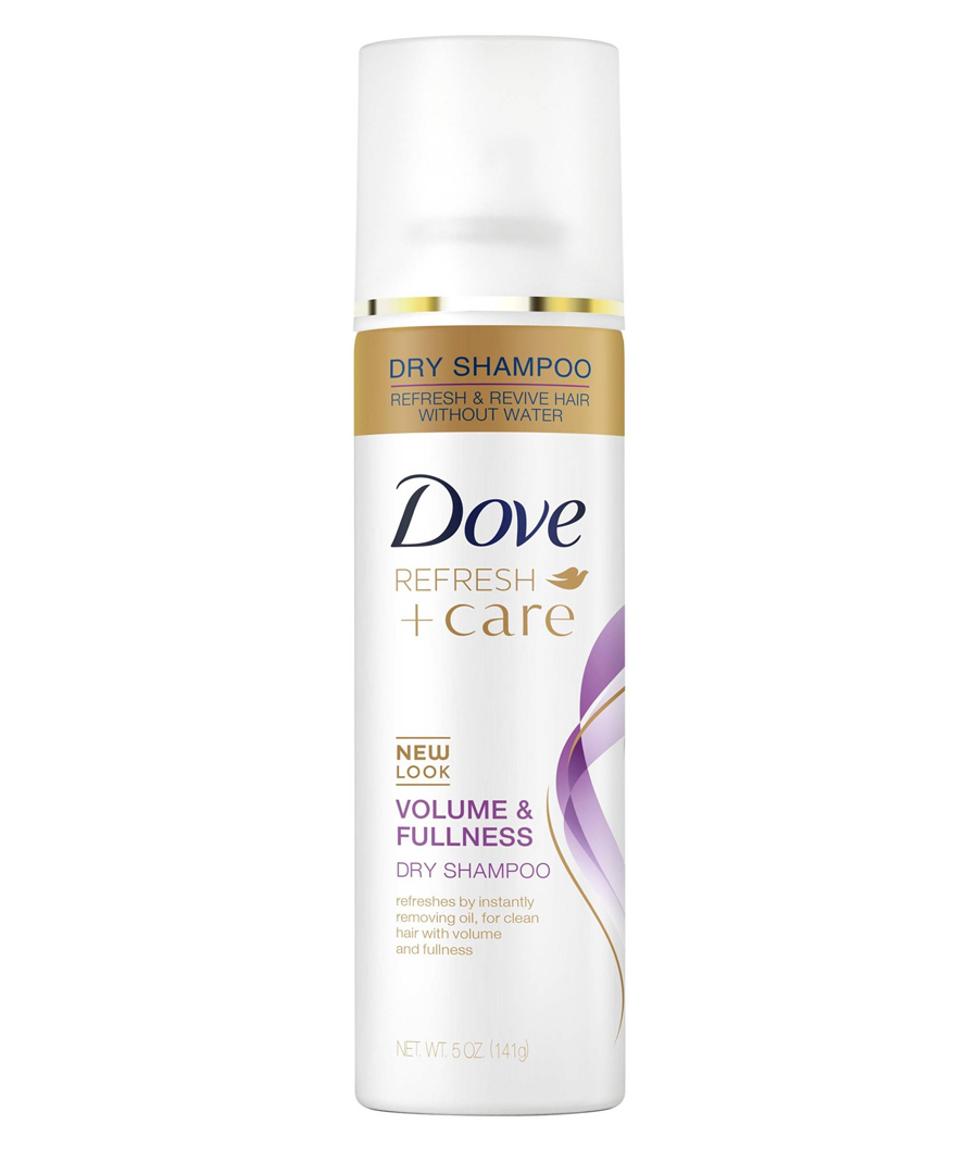 <p>For Fine Hair: Dove Refresh + Care Volume & Fullness Dry Shampoo </p>