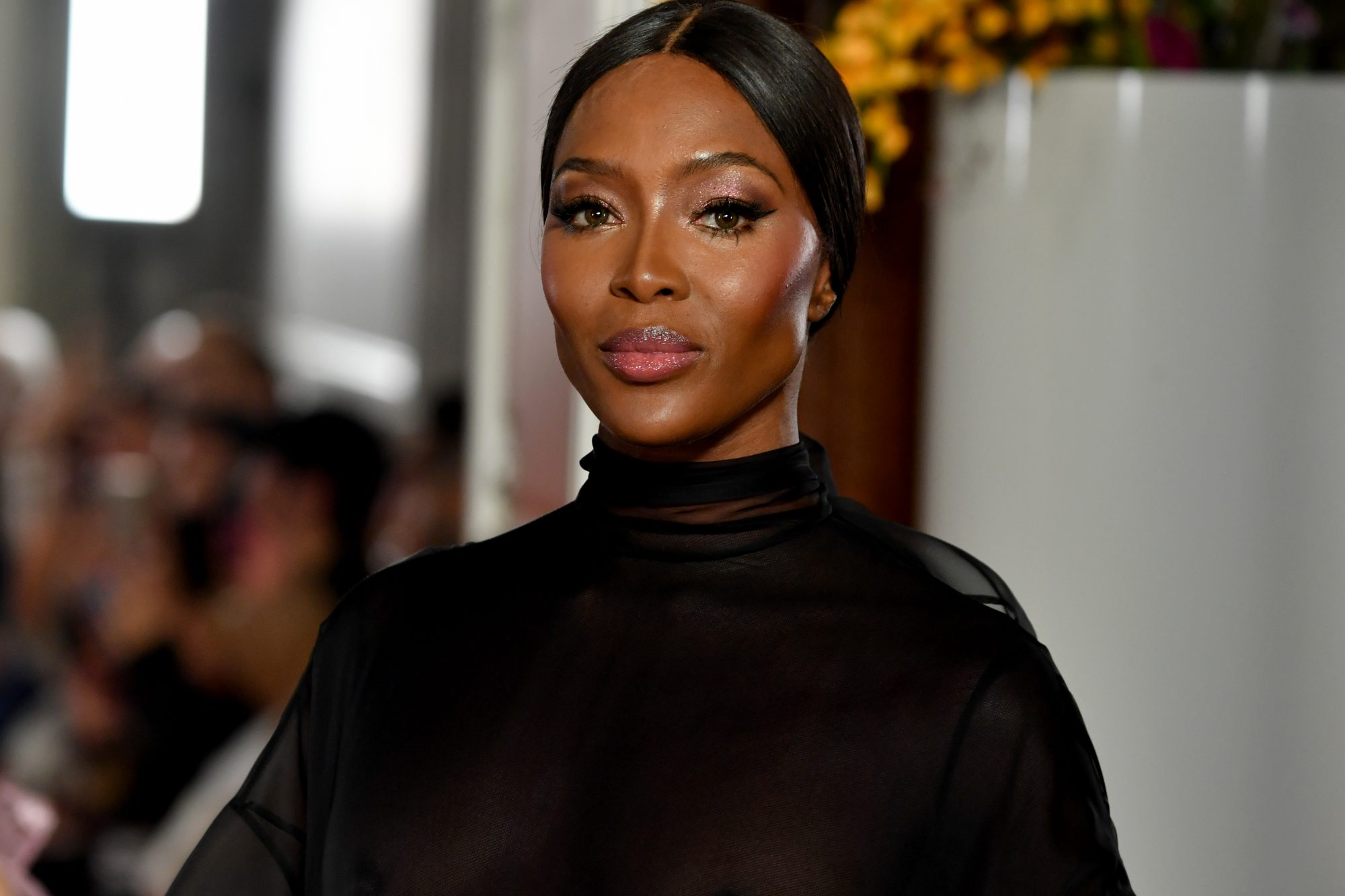 Naomi Campbell Closed the Valentino Runway in a Completely See-Through Gown