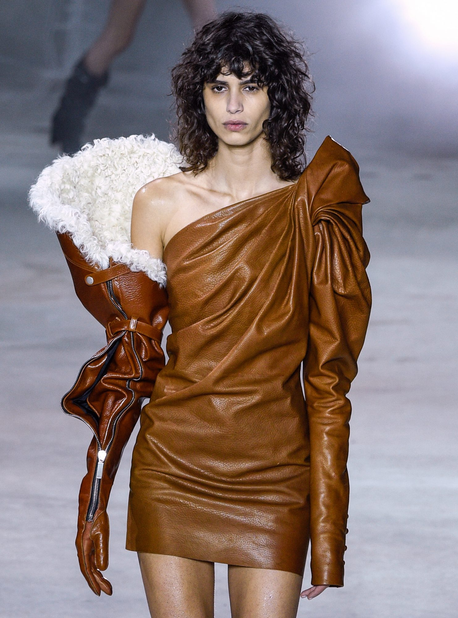 <p>DAY ONE: SAINT LAURENT'S SHEARLING GAUNTLET</p>