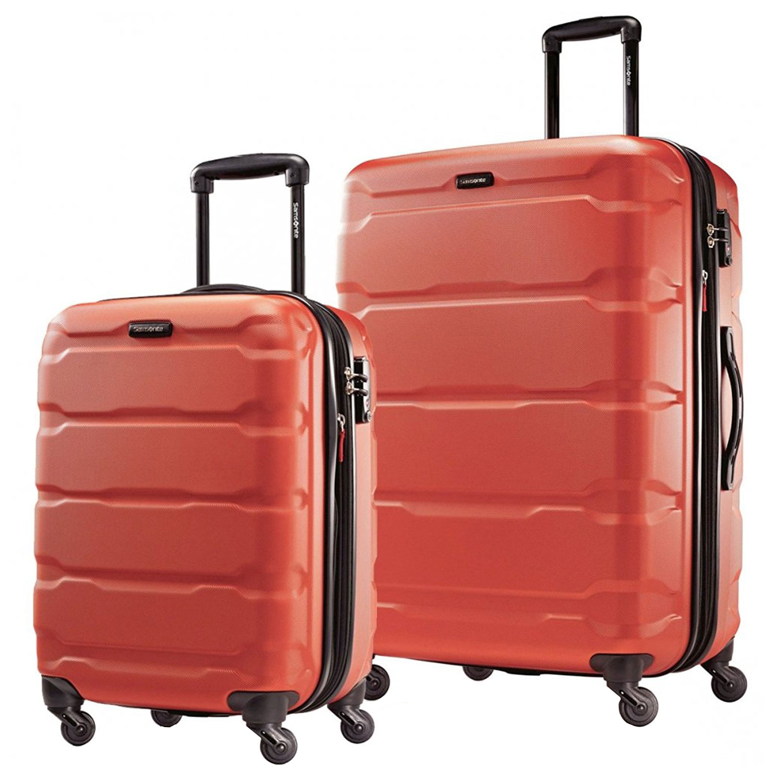 Samsonite Omni PC 2 Piece Set Spinner 20 and 28 With Travel Pillow