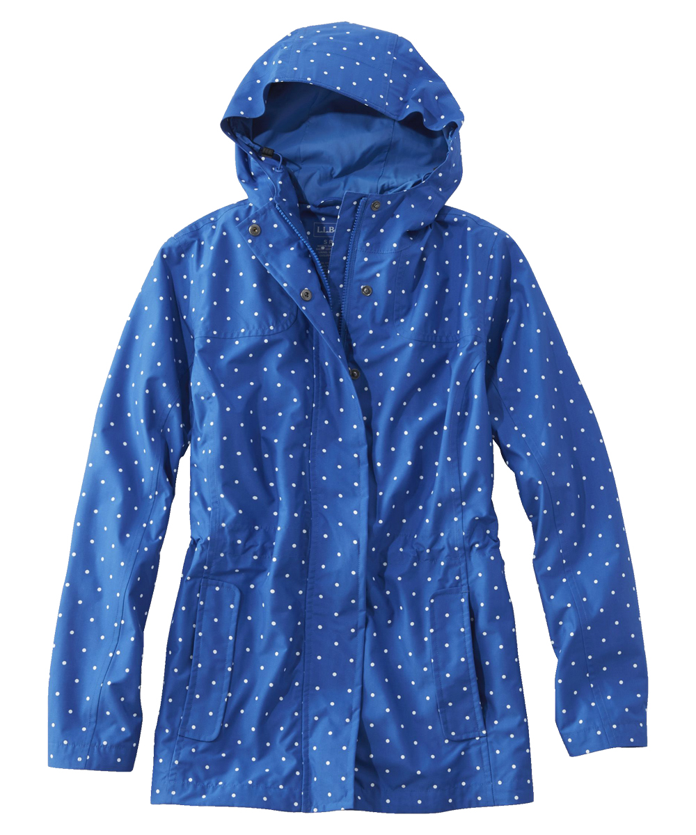 L.L. Bean H2Off Rain Mesh-Lined Jacket, Print