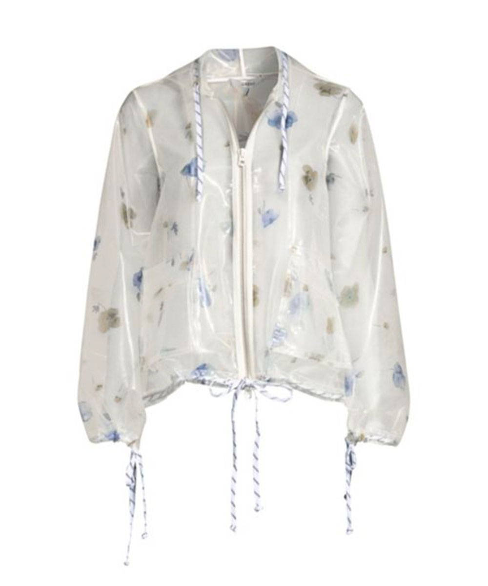 Ganni Petunia Transparent Zip Jacket