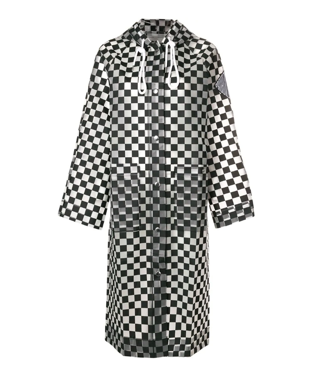 Proenza Schouler PSWL Checkerboard Raincoat