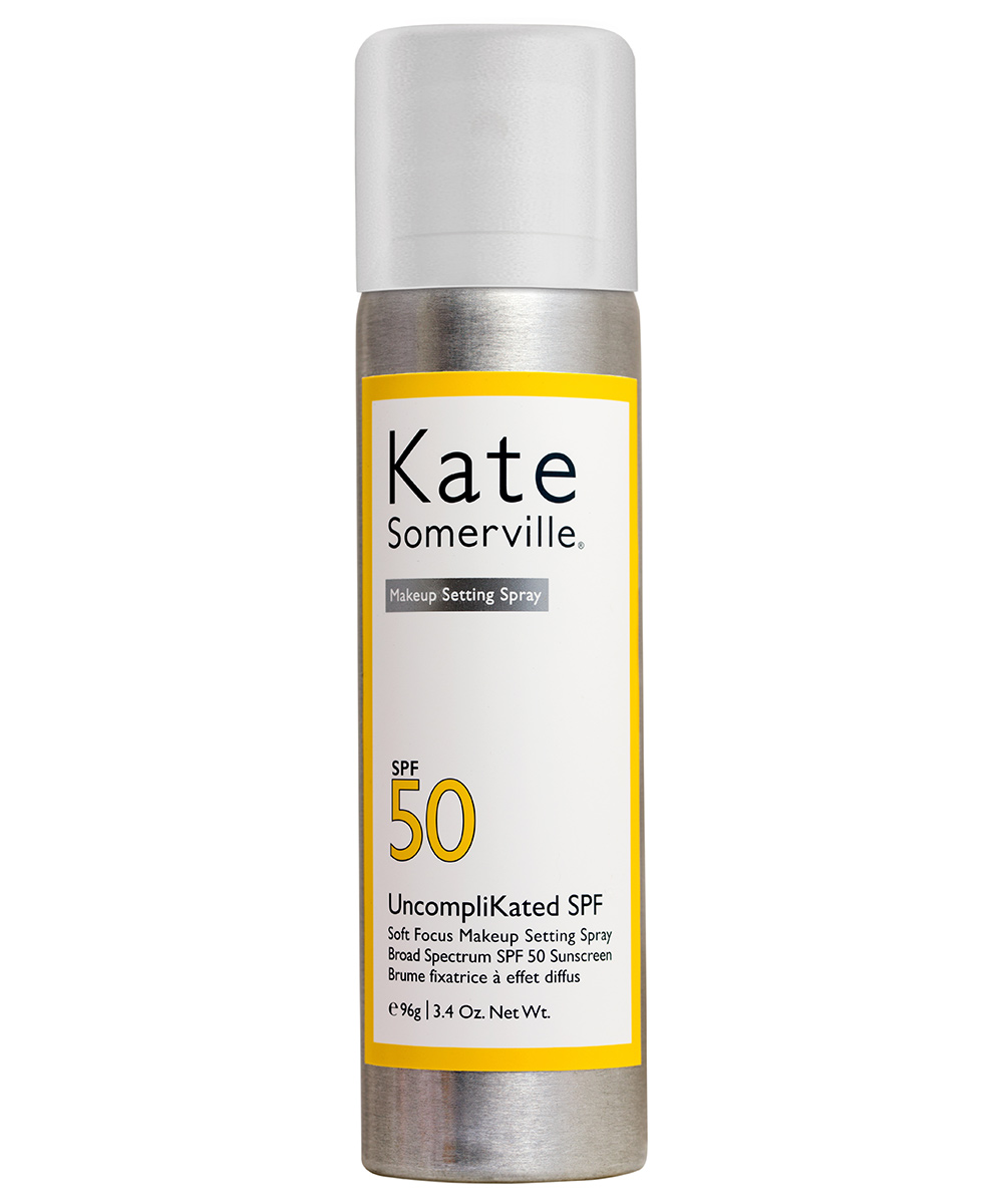<p>Kate Somerville Uncomplikated SPF Soft Focus Makeup Setting Spray Broad Spectrum SPF 50 Sunscreen</p>