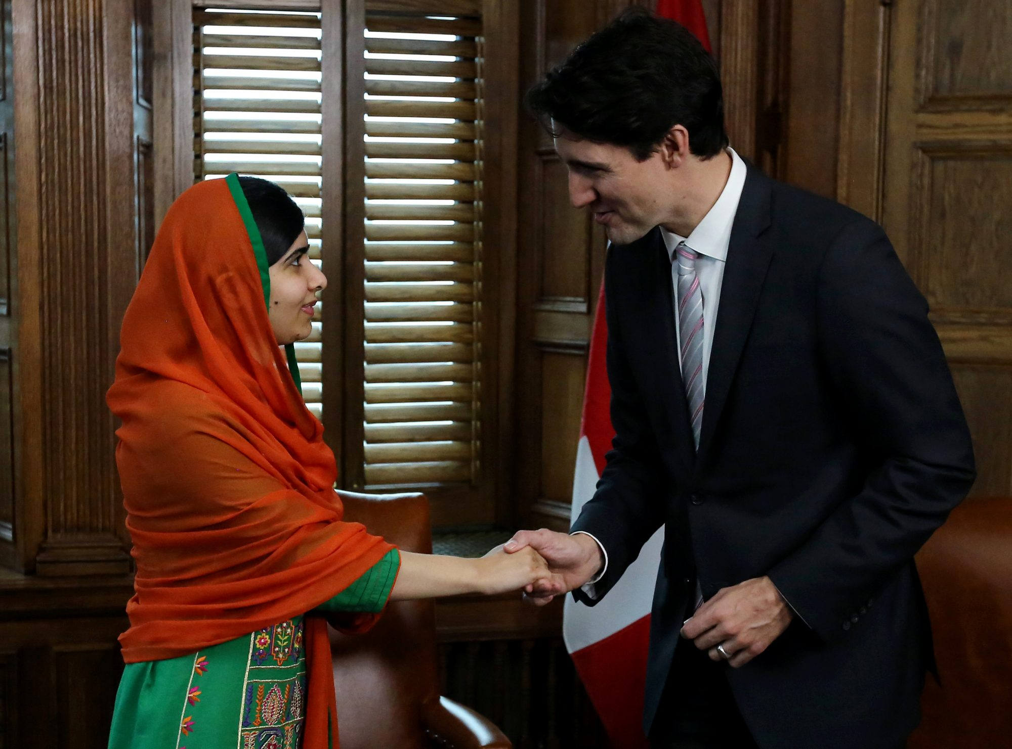 Watch Malala Yousafzai Tease Hip Canadian Prime Minister Justin Trudeau About His Tattoos