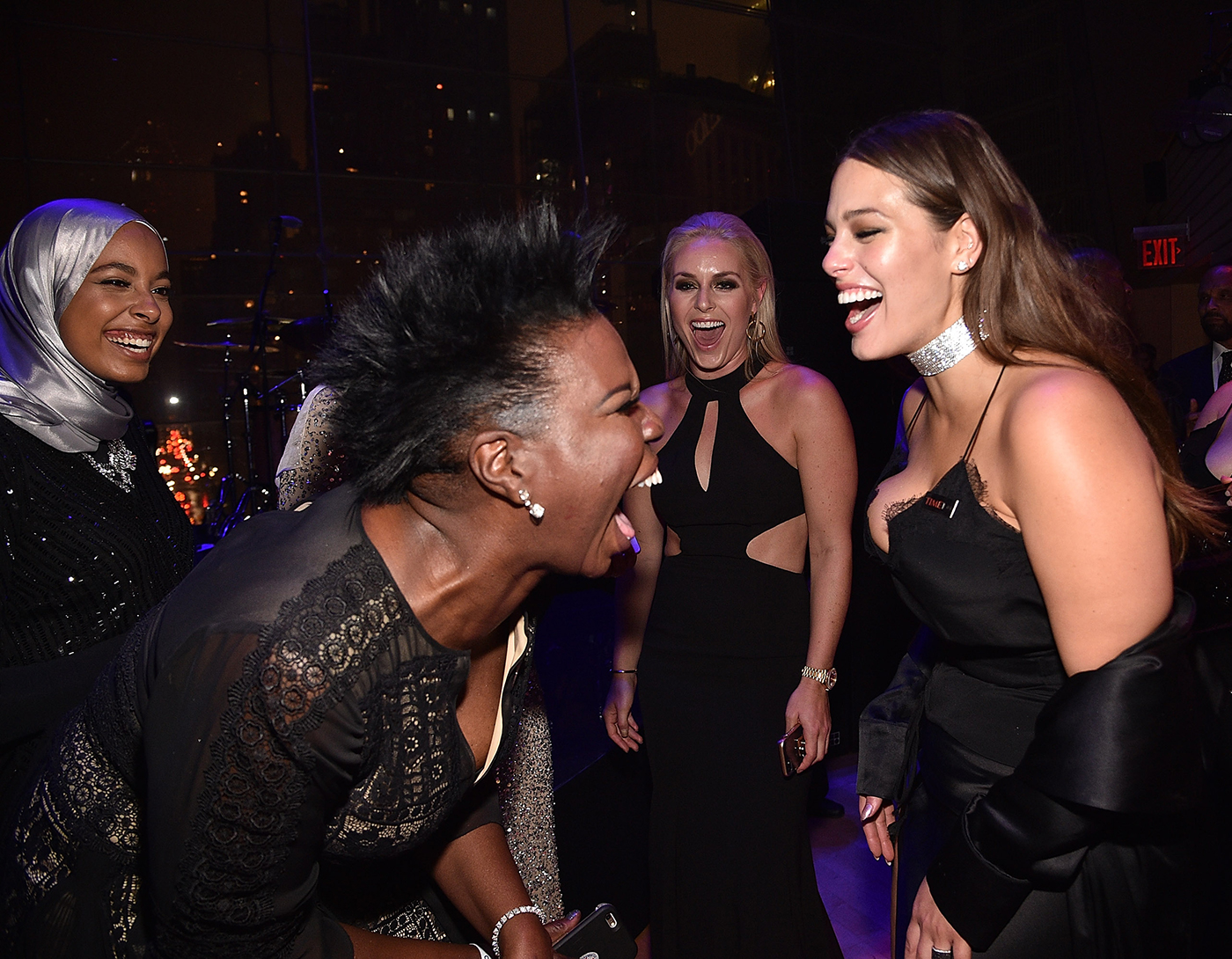 <p>Leslie Jones and Ashley Graham </p>