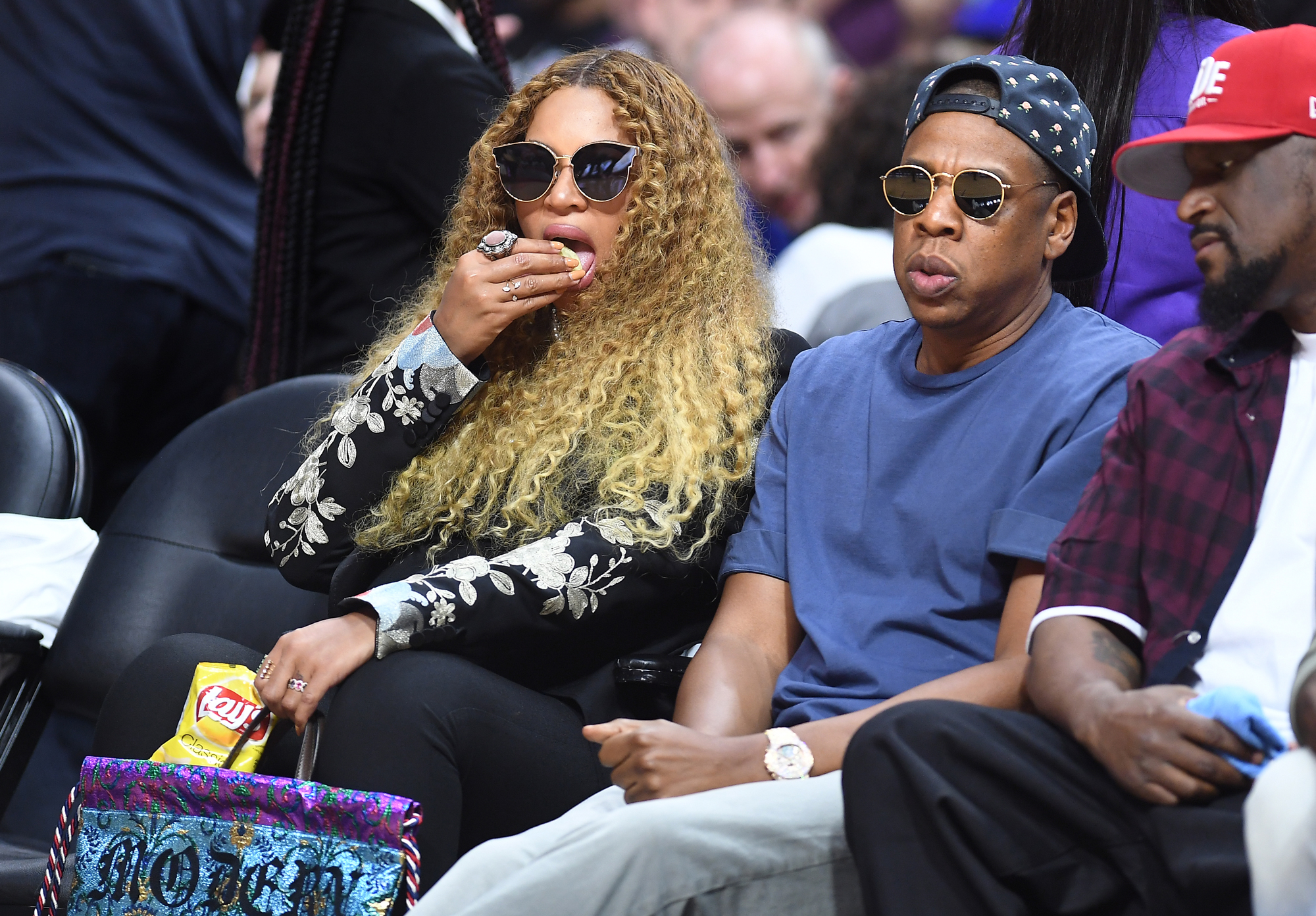 Beyonce Eating  Chips - Embed