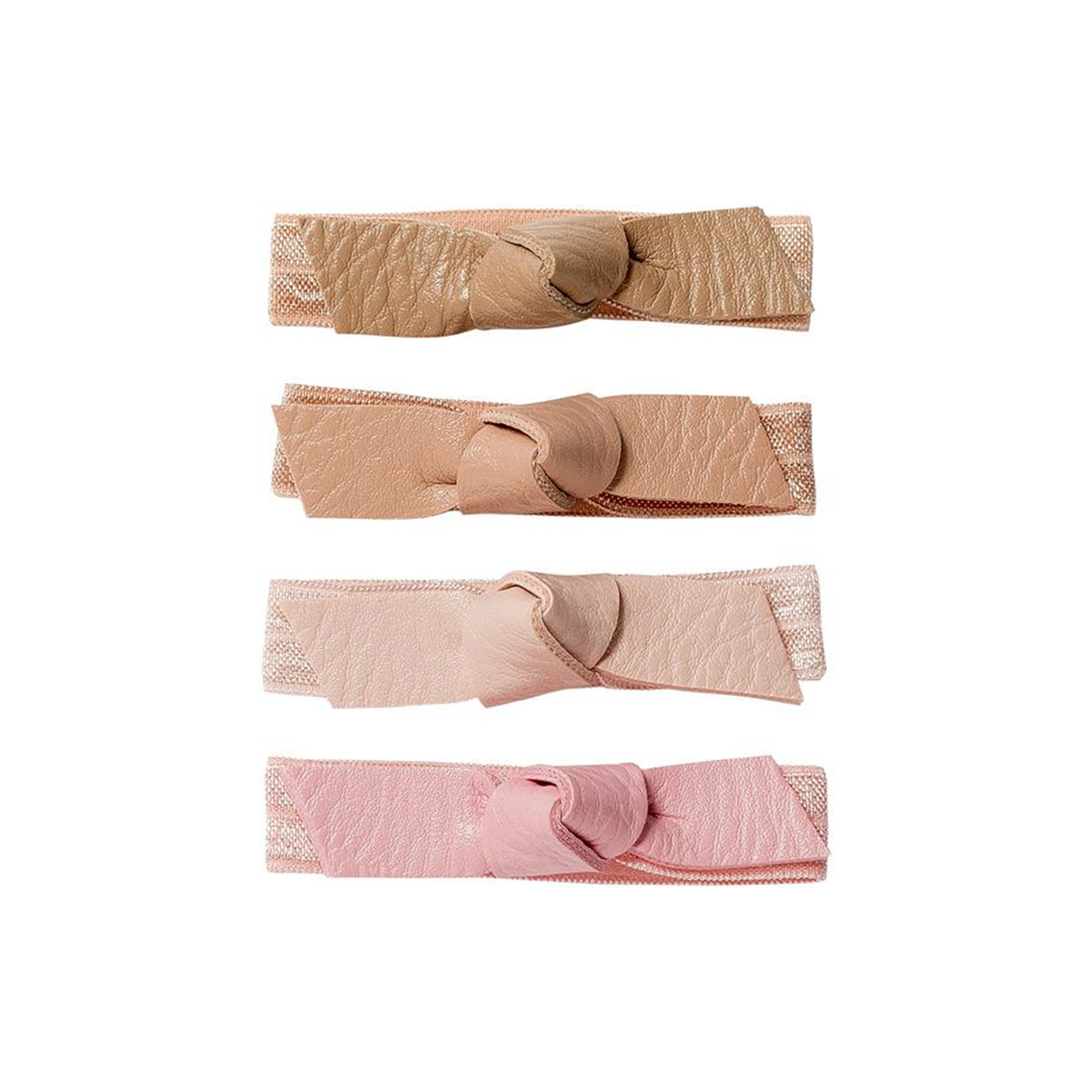 <p>Fromm1907 Bright Pink Bow Hair Ties</p>