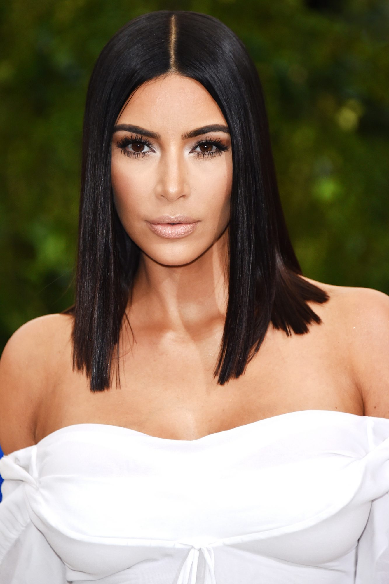 This Might Be Kim Kardashian's Sleekest Hairstyle of All Time