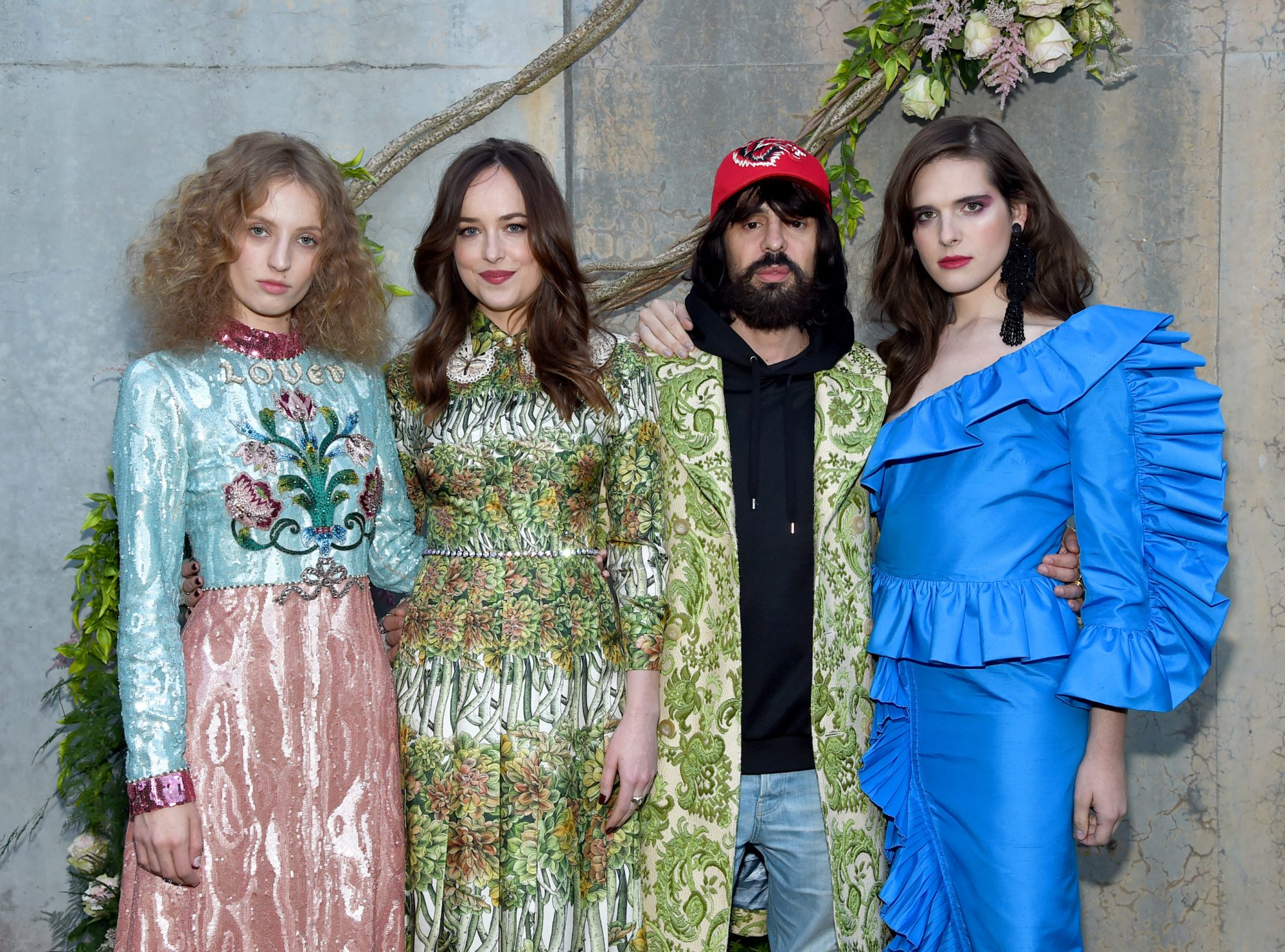 Inside Gucci's Bloom Fragrance Garden Party with Dakota Johnson, Hari Nef, and Petra Collins