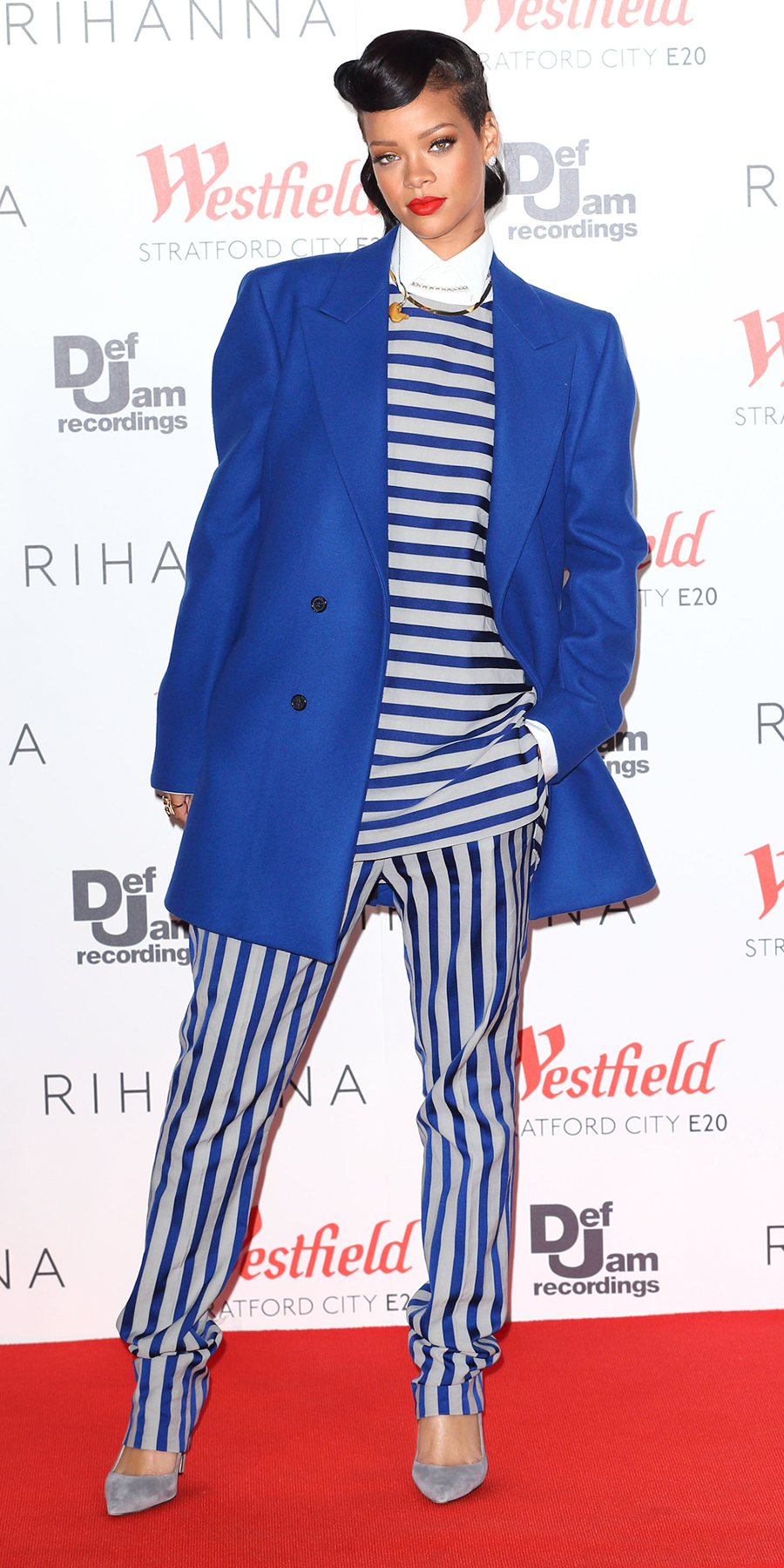In a Raf Simons coat and an Acne Studios top and pants in London (2012)