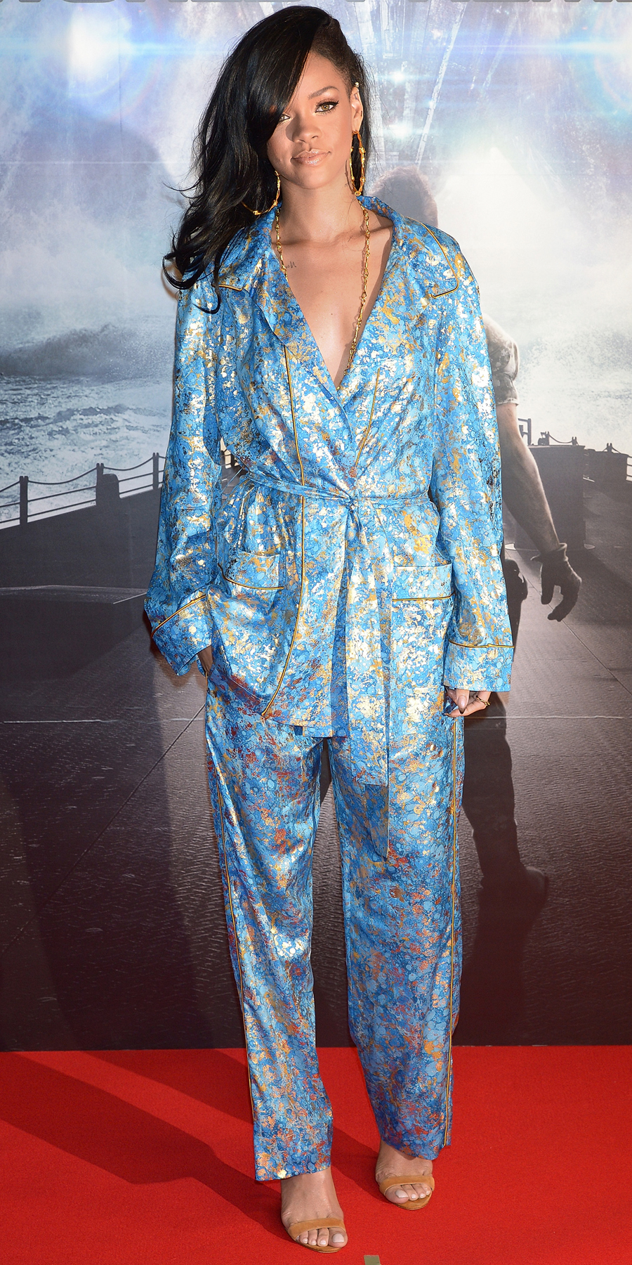 In Emilio Pucci at the Battleship première in Tokyo (2012)