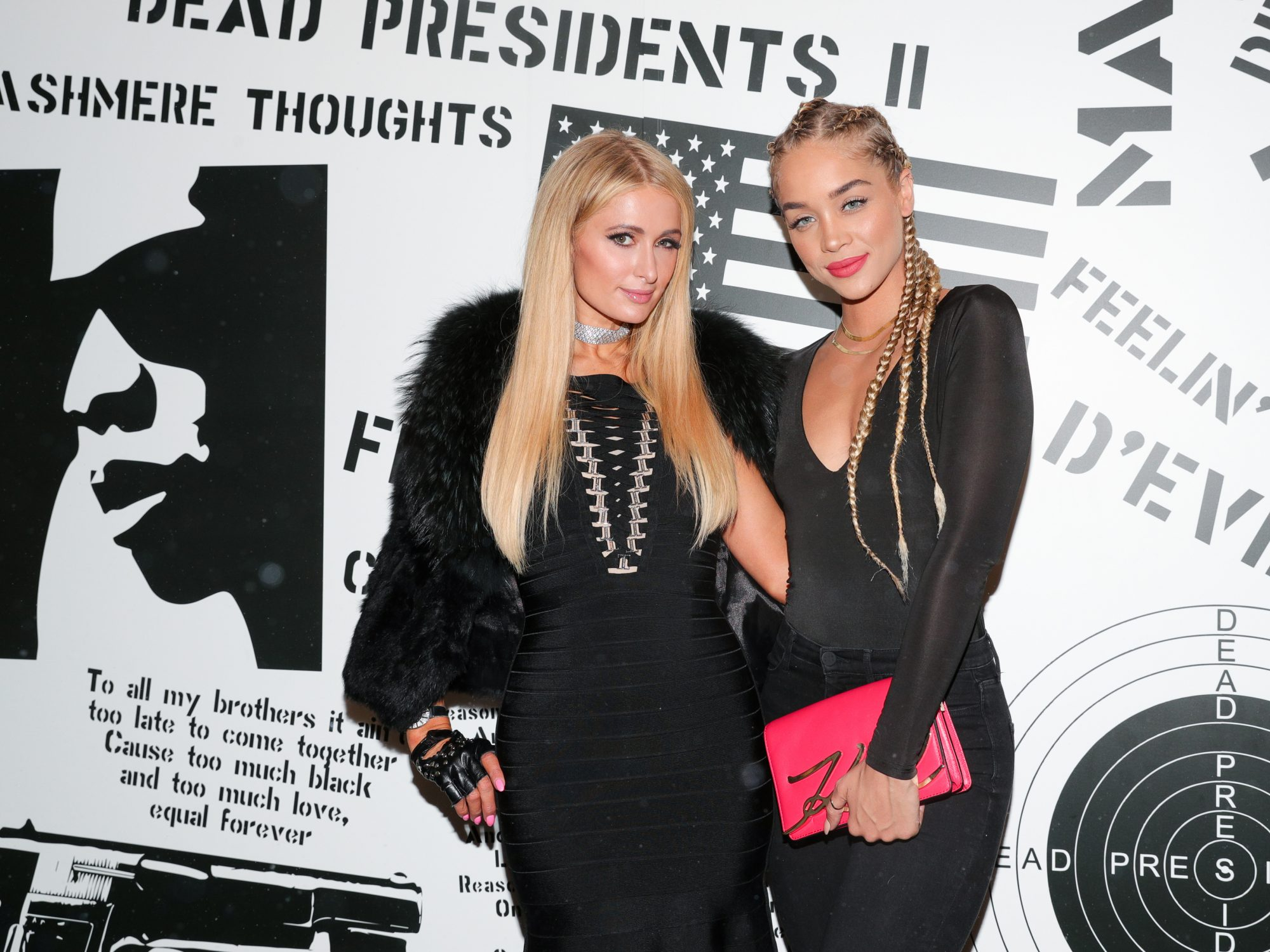 <p>Paris Hilton and Jasmine Sanders </p>
