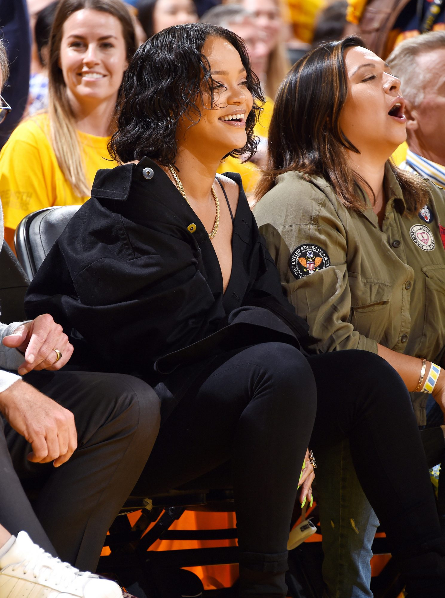 11 Times We Ignored Basketball to Watch Rihanna in the Sidelines