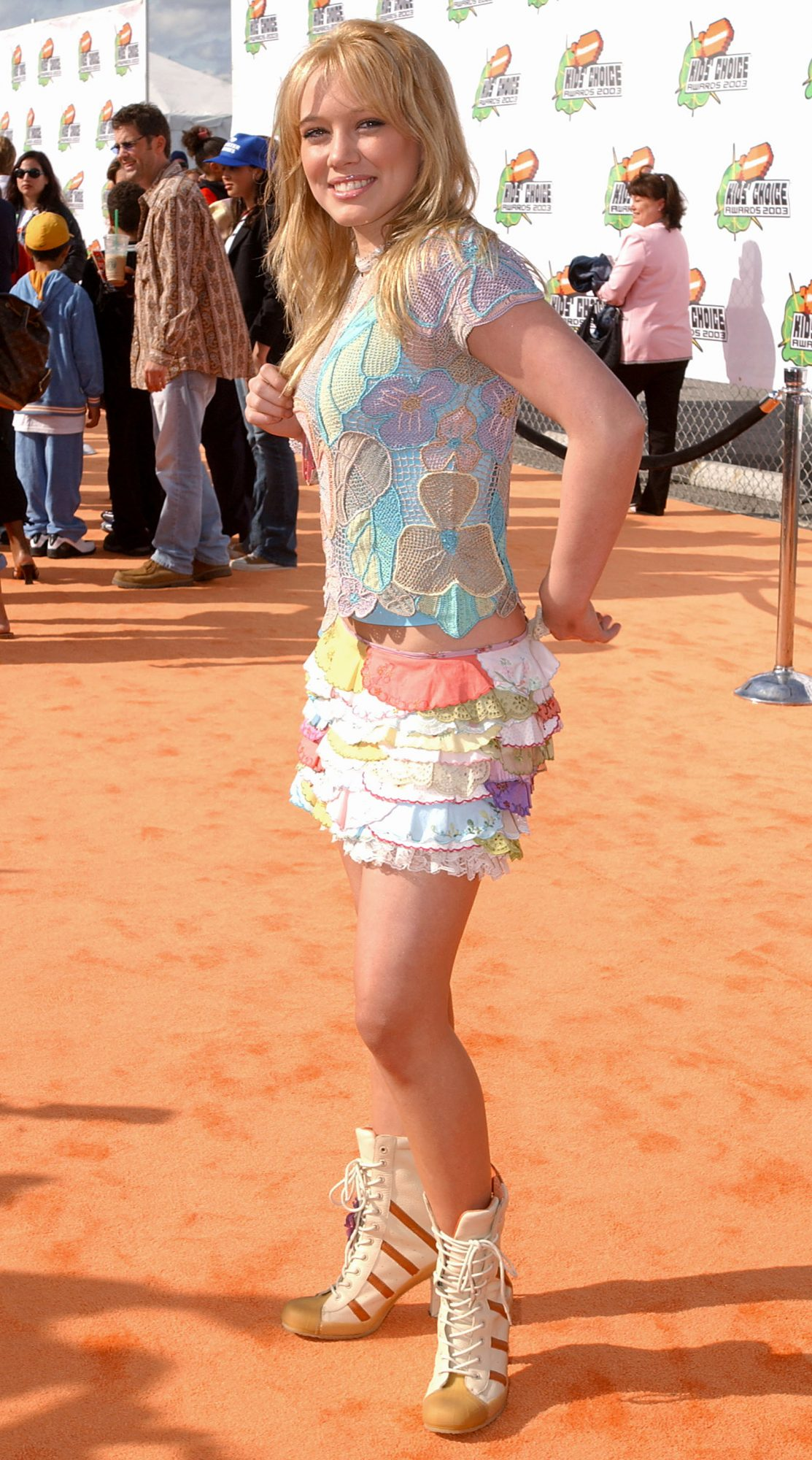<p>Hilary Duff at the 2003 Nickelodeon Kids' Choice Awards</p>