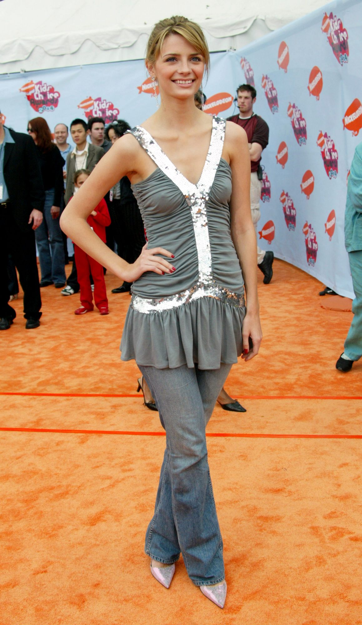 <p>Mischa Barton at the 2004 Kids' Choice Awards</p>