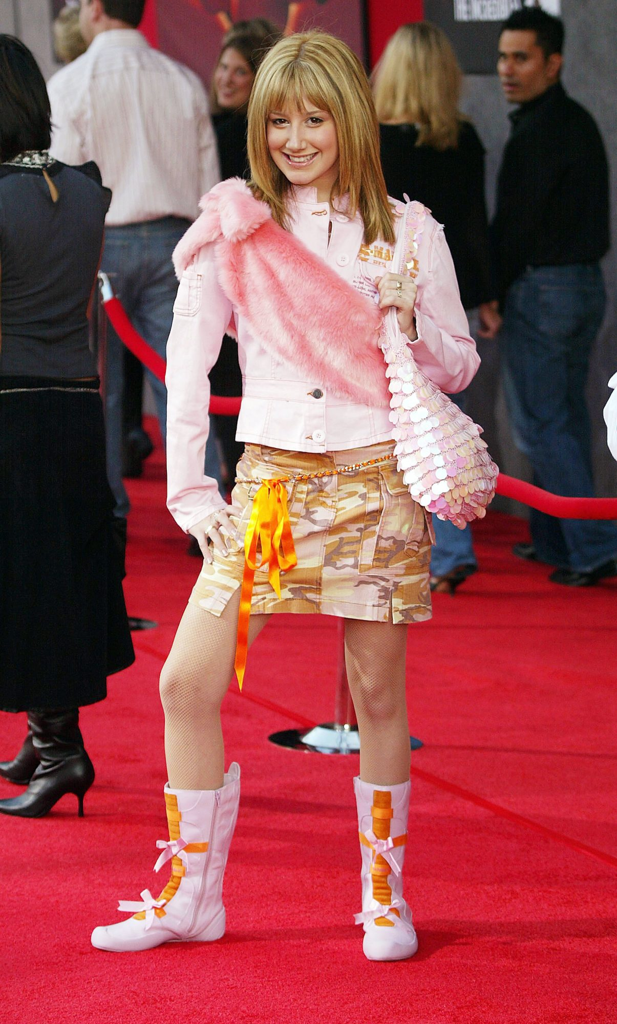 <p>Ashley Tisdale at the 2004 Premiere of<em> The Incredibles</em></p>