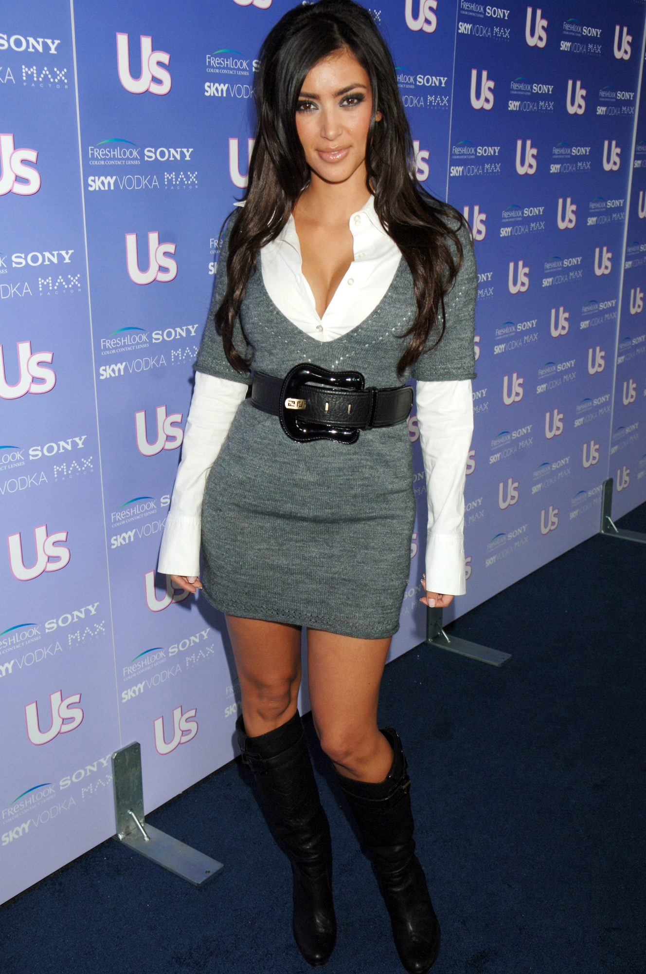 <p>Kim Kardashian (Pre West) at <em>US Weekly</em>'s Hot Hollywood Event in 2006</p>