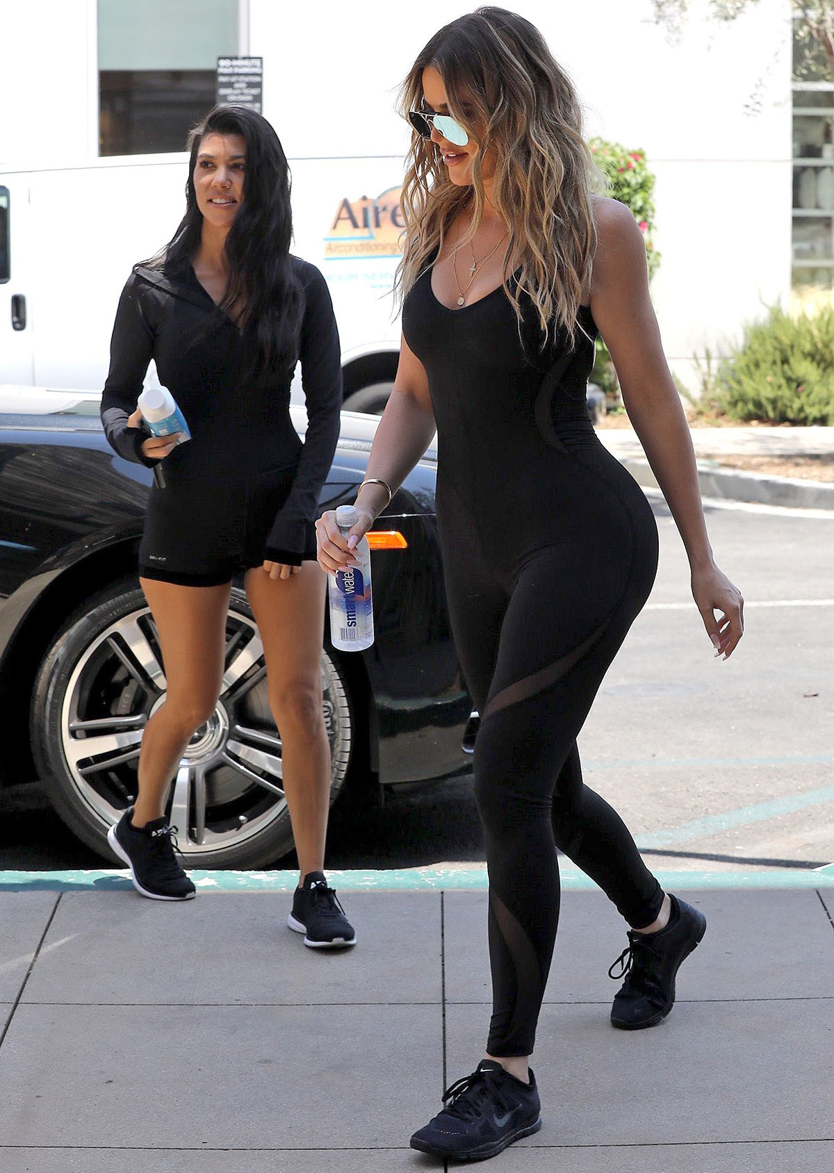 Kourtney and Khloé Take Workout Style to the Next Level